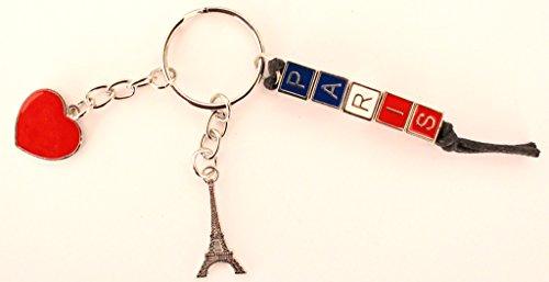 Schlüsselring-Schlüsselanhänger Souvenir de France Paris Herz Eiffelturm Metall Geschenke