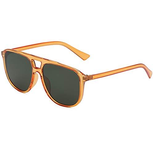 Klassischer Kunststoff-Rahmen Sonnenbrille Herren Damen Persönlichkeit Brillengestell Trendige Punk Wind Brillengestell Vintage Style Brille HOOPERT (E)