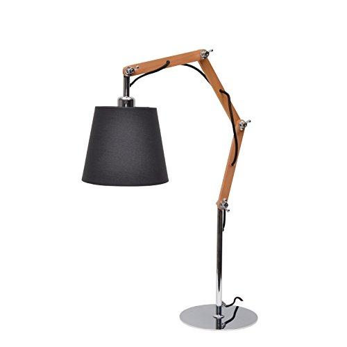 More Design FLAMAND-H66-NR Lampe à Poser 40 W E27 Noir