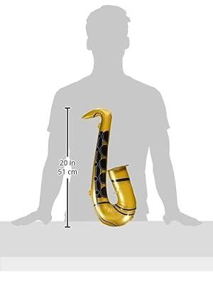 aufblasbares Saxophon, ca. 54 cm, goldfarben