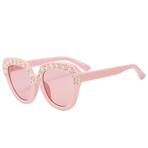 Dorical Sonnenbrille Kinder/Baby Mode Quadratischer Rahmen mit Diamant Unisex Brille Hochwertige Brille Dekobrillen 6 verschiedene Farben/Modelle wählbar Valentinstag Brille Sale