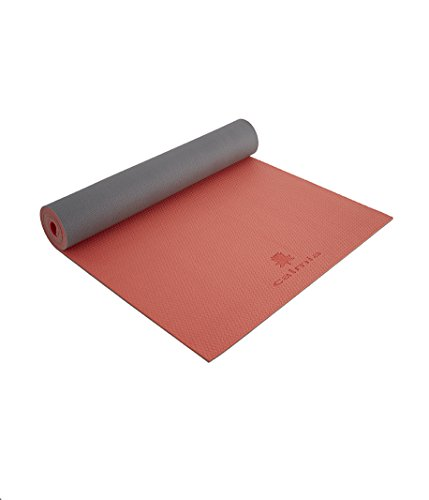 1f6ab9505fcdd Calmia Luxury Dual Colour Reversible Yoga Mat Premium Firm Textured Non-Slip