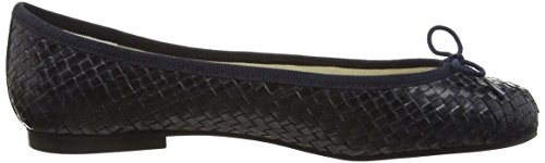 French Sole Henrietta Woven Leather, Ballerine Donna Blu (Blu (Navy))