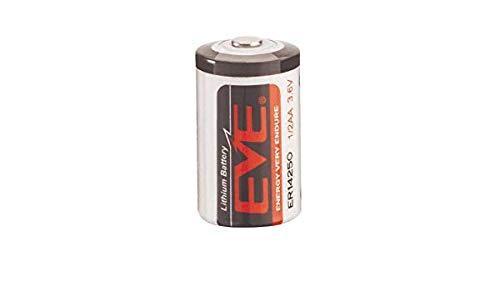 Litium Cell que 14250V HSB l001Technology Medidas Chloride Size 1/2de litio AA Voltage 3.6V capacity 1200mAh Dimensions * Diámetro de 14,5mm altura 25.4mm Weight * 10gr Connector Bare Cell la er14250della Eve è una batteria non ricaricabile ...