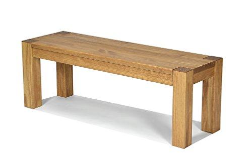 Sitzbank ,,Rio Bonito,, 120x38cm, Bank Massivholz Pinie, geölt und gewachst, Farbton Honig hell, Optional: passende Tische -