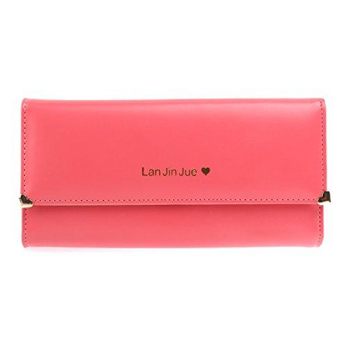 Geld Lange Brieftasche (Winomo Damen Mädchen lange Brieftasche Portemonnaie Handy Tasche Clutch Bag -1 Stück)