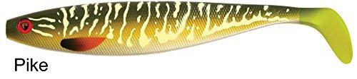 Fox Rage Pro Shad Firetail II Gummifische Köder für Hecht, Zander, Barsch und Wels, Hechtköder, Zanderköder, Welsköder, Barschköder, Gummifisch, Gummiköder, Angelköder , Farbe:Pike;Länge:23cm