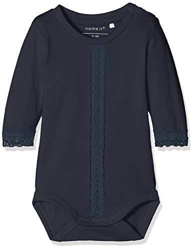 NAME IT Baby - Mädchen NBFREGINA LS Body Strampler, per Pack Blau (Dark Sapphire Dark Sapphire), 62 (Herstellergröße: 62) Pack Onesies