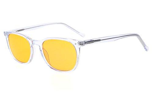 Eyekepper Computer Gläser-Acetat-Frame-Better Sleep Brillen für kleine Gesicht Männer Frauen Teenager (Transparent,+1.50)