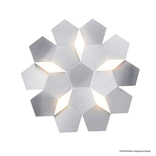 Grossmann - Plafonnier Design Led Dimmable Karat En Aluminium Brossé