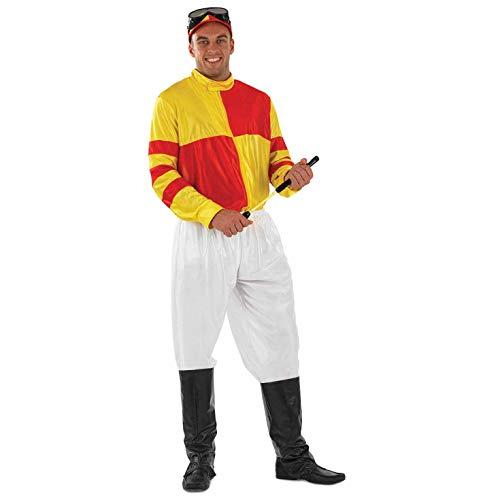 Kostüm Jockey - Jockey (Gelb und Rot) - Adult Kostüm