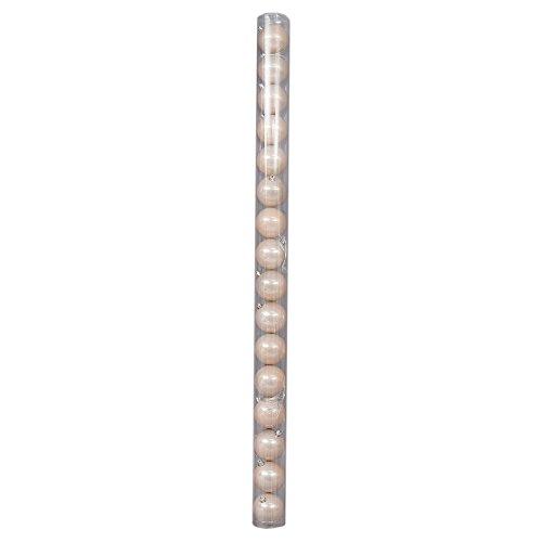 Viscio trading casa & christmas sfera, pvc, rosa, 7 x 7 x 8 cm, 16 unità