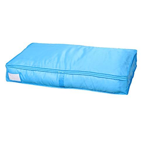 Westeng Aufbewahrungstasche Groß Unterbett Aufbewahrungstasche für Bettzeug/Kleidung/ Duvet/Quilts/ Matratze/Decken/ Kissen (Blau B) -