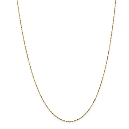 IceCarats Designer Jewellery 14K 1Mm Singapore Chain In 24 Inch