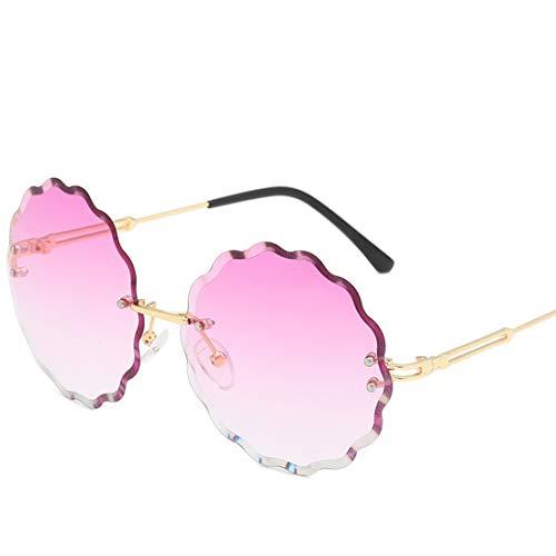 Shiduoli Blume geformt Bonbonfarbenen Sonnenbrillen für Männer Frauen Glas für Shopping-Party (Color : C)