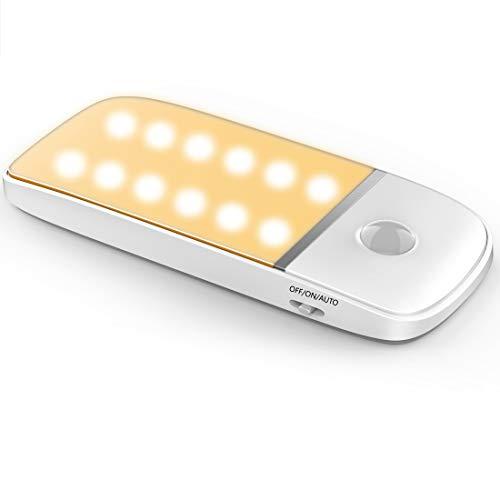 Luce Notte LED, Luce Sensore di Movimento, Luce Armadio LED con Sensore, Luce Fredda e Luce Calda Alimentato a Batteria, Ideale per Armadio a Muro, Armadio, Cucina, Scale e Balcone