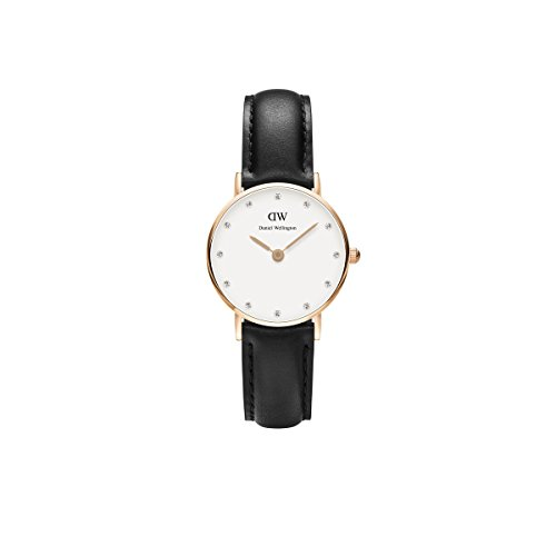 daniel wellington uhr classy sheffield leder schwarz damen. Black Bedroom Furniture Sets. Home Design Ideas
