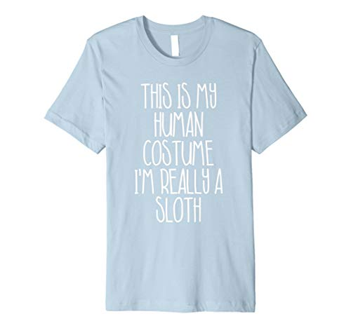 (Cute einfach Faultier Halloween-Kostüm Shirt für Mädchen Jungen Herren)