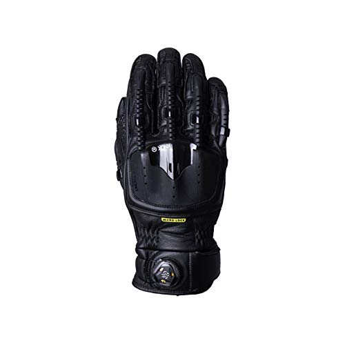 1012544230060 - Knox Handroid Pod MK4 Leather Motorcycle Gloves XXL All Black