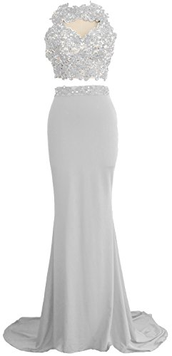 MACloth - Robe - Ajourée - Sans Manche - Femme Blanc