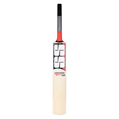 SS Super Power English Willow Cricket Bat, Size 6 (Color may vary)