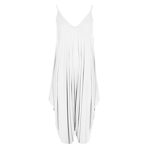New Womens Plus Size Cami Lagenlook Romper Baggy Harem Jumpsuit Playsuit Dress