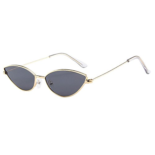 Dragon868 Herren/Damen Sonnenbrille Metallic Vintage Transparent Small Frame Sonnenbrille Retro Brillen (I)