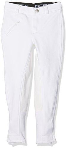 PFIFF 101915 Reithose Jessy, Turnierhose Mädchenreithose Mädchenhose, Vollbesatz, weiß, 152