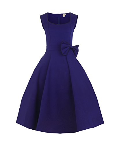Feven Damen Kleid Blau Blau (1950 Evening Star)