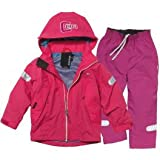 Girl's Didriksons Cameron Waterproof Jacket & Trousers Fuchsia/Dark Fuchsia (2-6 Years)