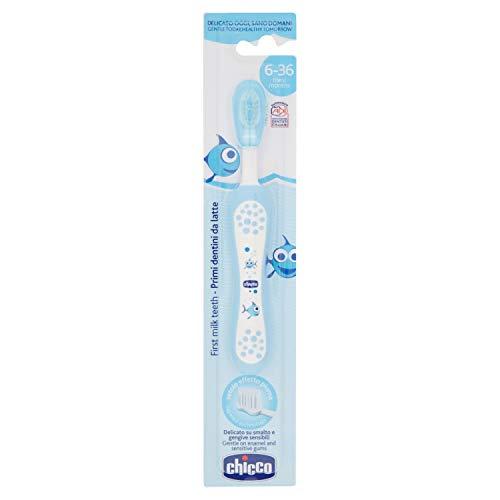 Chicco 00006958200000 Zahnbürste, 6M+, blau