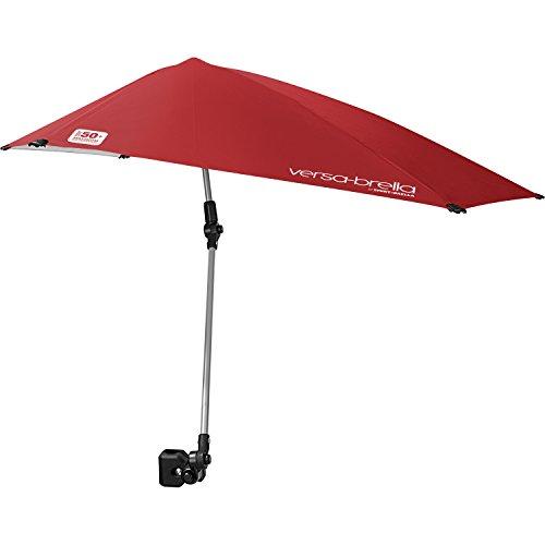 Sport-Brella Versa-Brella-Regenschirm für alle Positionen mit Universalklemme, Firebrick Red