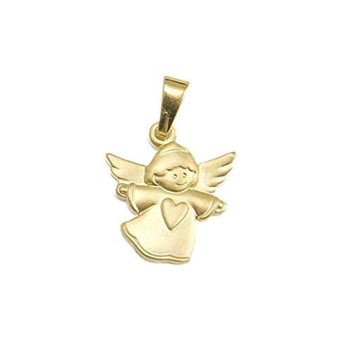 Schmuck Klein Goldener Engel-Anhänger mit Herz 333/- Gold inkl. Wunschgravur
