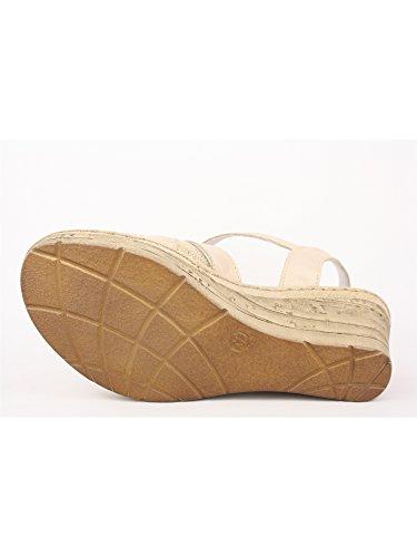 Melluso 019045 Sandalo da Donna con Zeppa Cipria