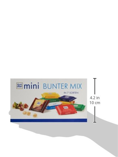 RITTER SPORT mini Bunter Mix Schokobox (84 x 16,67 g), 7 leckere Sorten, Vollmilchschokolade, Halbbitter- & Edelvollmilch-Schokolade, Schokoladenbox