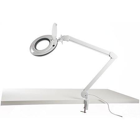 LED-Lupenleuchte, 9 W, 850 Lumen, warmweiß/kaltweiß, dimmbar, wechselbare Linse