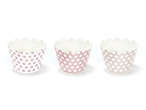 6 Cupcake-Manschetten zu Babyparty, Kindergeburtstag, Hochzeit | Kuchendekoration