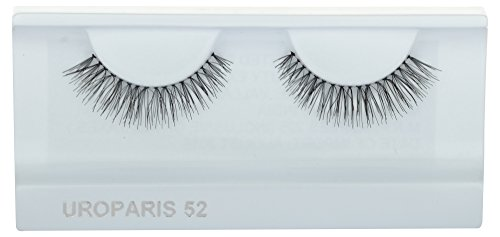 UROPARIS False Eyelashes for Women, 52, Black