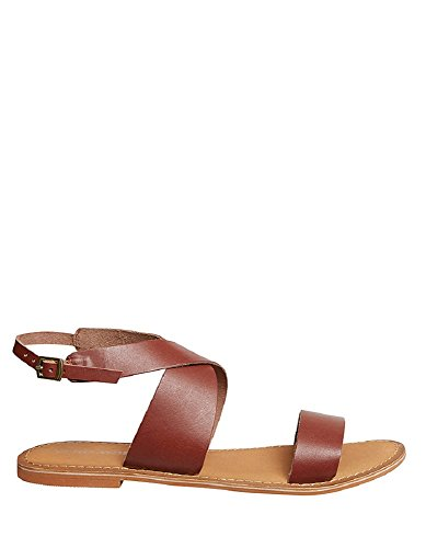 Vero Moda Brown Flat Sandals by (41 - Brown)