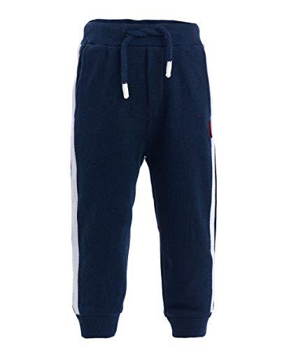 GULLIVER Baby Junge Hose | Farbe Navy Blau Unifarben mit Seitenstreifen | elastischer Bund | 100% Baumwolle | Regular Fit | für 9-24 Monate (Hose Kontrast-bund)