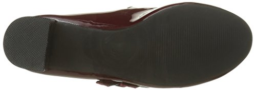 Initiale Damen Senzo Mary Jane Halbschuhe Rot - Rouge (Bordeaux)