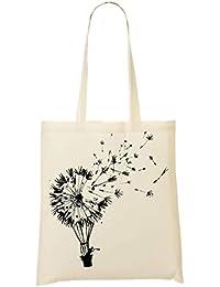 Dandelion Going Where The Wind Blows Artwork Bolso De Mano Bolsa De La Compra