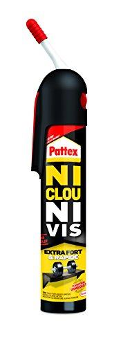 Pattex Colle de fixation sans pistolet Ni clou ni vis - Extra forte et rapide - Blanche et sans solvant - 1 x 250 g