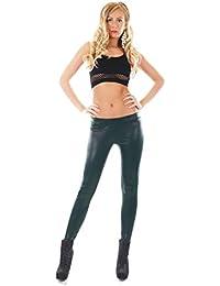 7d117b5901c8 fashion boutik Leggings Pantalon Aspect Brillant Style Simili Cuir Femme  Sexy Tendance