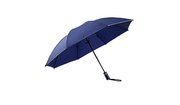 Resistente alla Pioggia e al Sole Blue Sendgo Ombrello Automatico Luxe con Apertura inversa Pieghevole da Lavoro