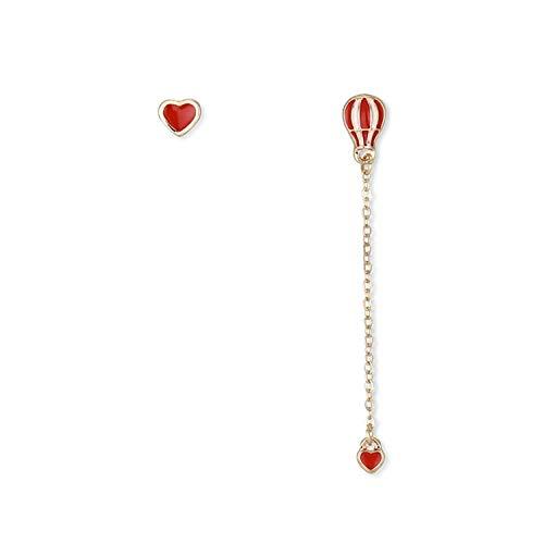 (Katylen Earring Schöne Liebe Ballon Mädchen Ohrringe Mädchen Ohrringe Temperament Persönlichkeit Asymmetrische Mädchen Ohrringe)
