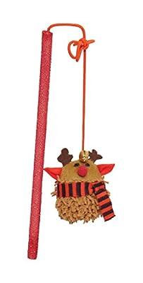 Rosewood Jingling Reindeer Catnip Teaser