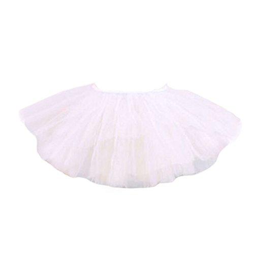 Weiße Kostüm Schwanensee - Black Temptation DREI Schichten Garn Tanz-Rock-Kind Schwanensee Kostüme Ballett-Kleid-Weiß