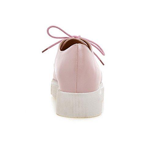 BalaMasa-American Muffin Buttom lacci, pompe Imitated-Scarpe in pelle Pink