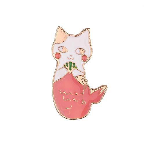 Tcaijing Broschen Brosche Rosa Cartoon Katze Halsband Pin Brosche Legierung Brosche -